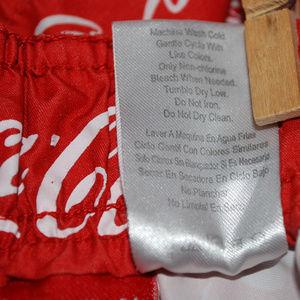 da31913625 Coca-Cola Swim | Cocacola Theme Logo Mens Trunks Shorts Sz 38 | Poshmark
